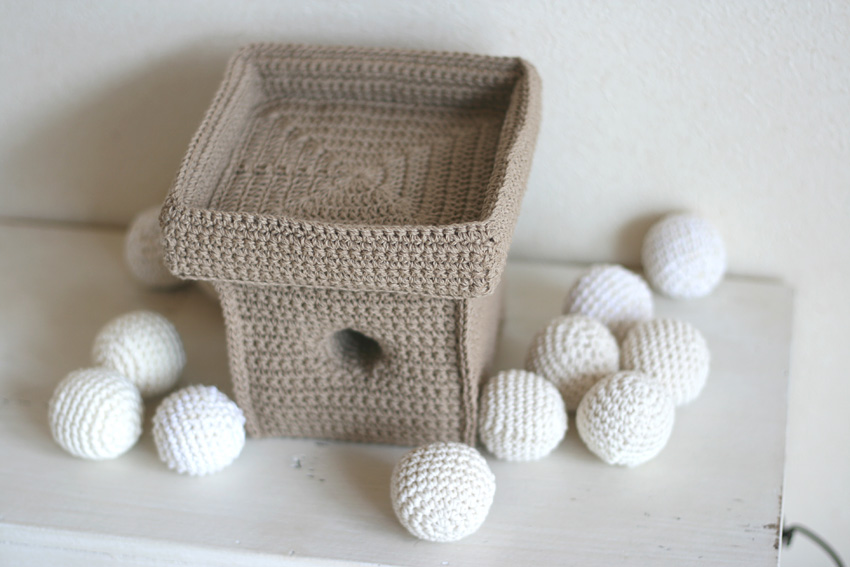 かぎ針編み 月見だんご  三方