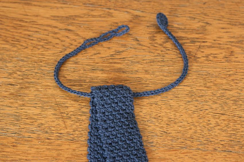かぎ針編み ニットタイの仕組み
