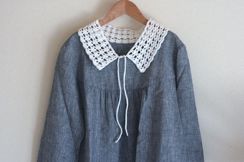 かぎ針編み つけ襟