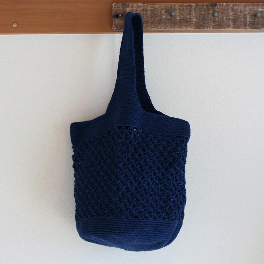 かぎ針編み 麻の葉ワンショルダー