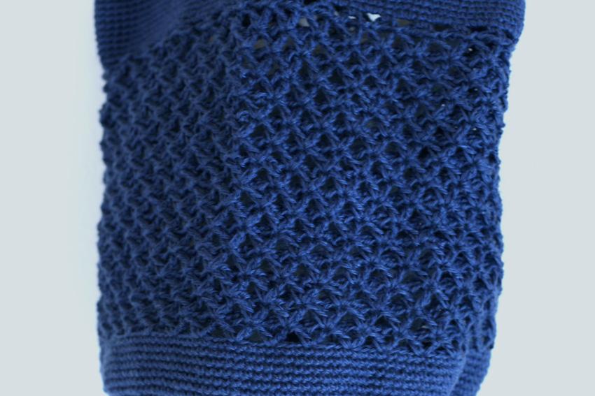 かぎ針編み バッグの編み地拡大