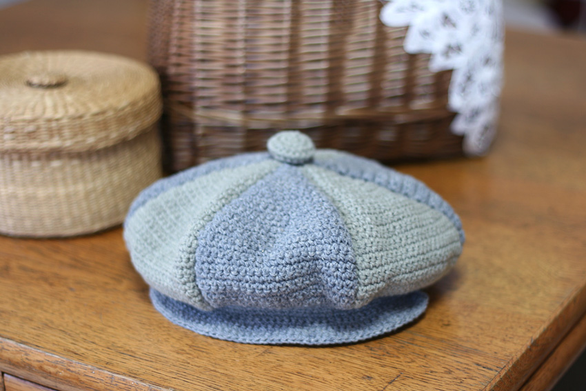 かぎ針編み キャスケット 正面