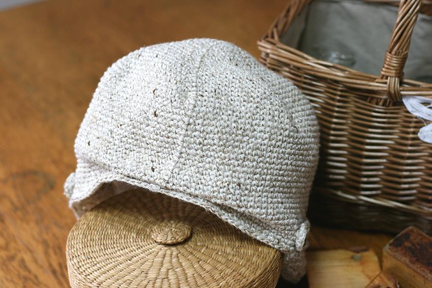かぎ針編み キャスケット うしろ