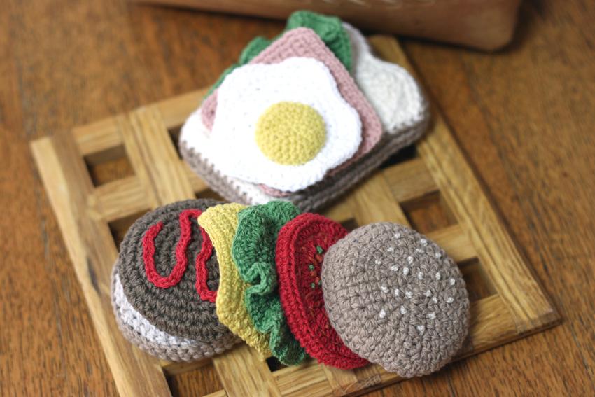 かぎ針編み ままごとハンバーガー