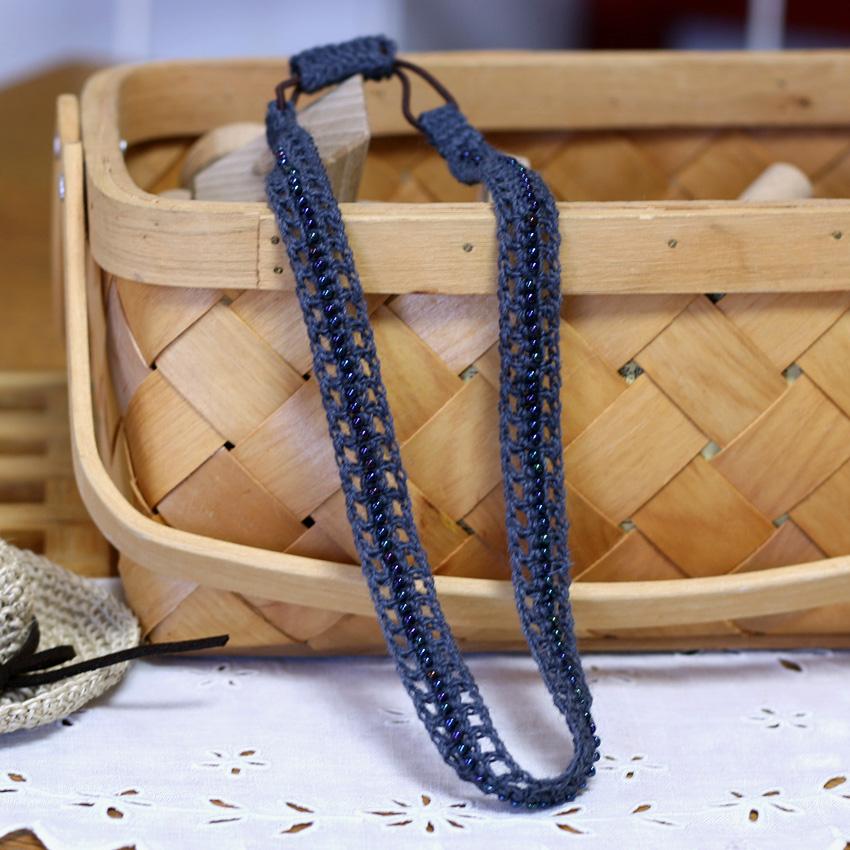 かぎ針編み ビーズ編みカチューム