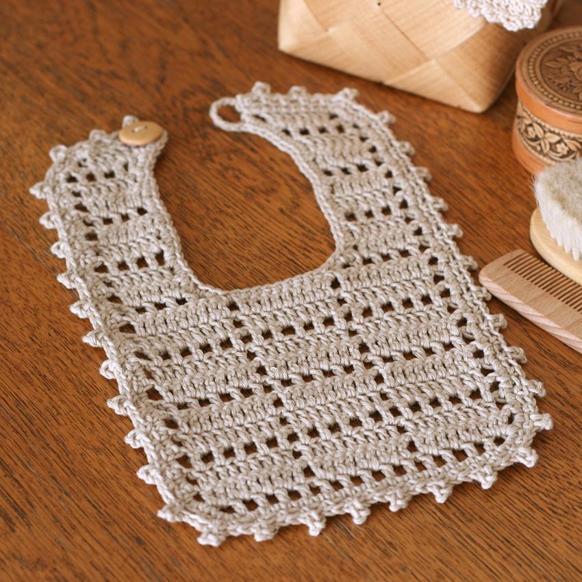 かぎ針編み ベビースタイ