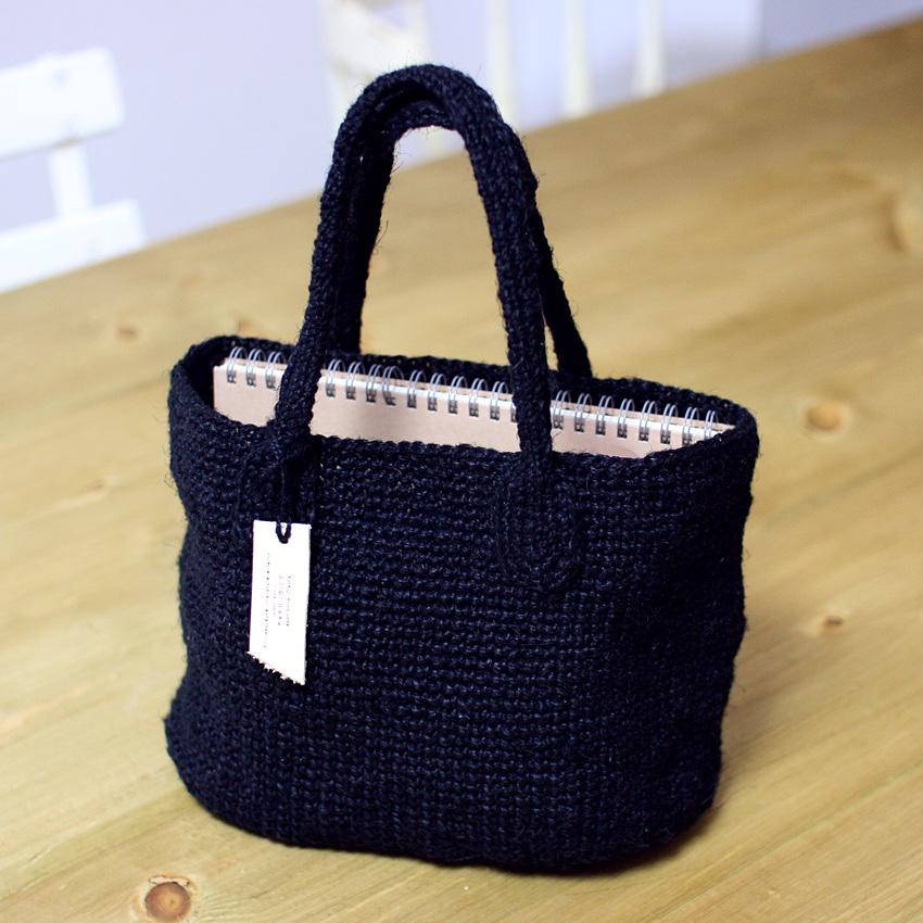 かぎ針編み サイザル風バッグ