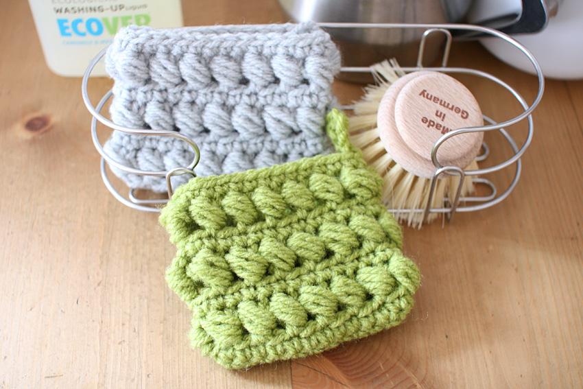 かぎ針編み アクリルたわし2色