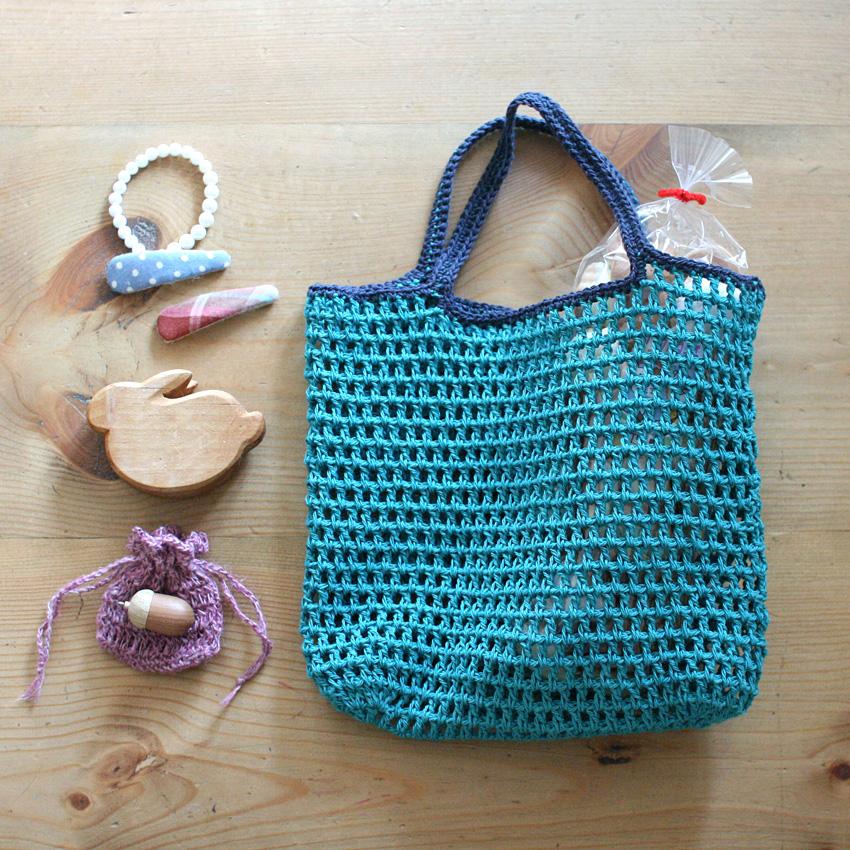 かぎ針編み [2000いいね!記念] 夏のミニバッグ