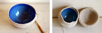 かぎ針編み ガチャ玉を編みくるみます