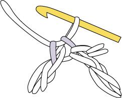 かぎ針編み 麻の葉模様Ⅱ 長編みのハの字部分
