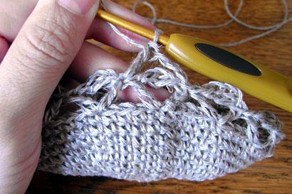 かぎ針編み 麻の葉模様Ⅱ ⑩麻の葉模様の2段目に進みます