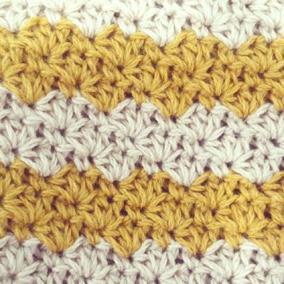 かぎ針編み レトロなポーチの編み地の裏側