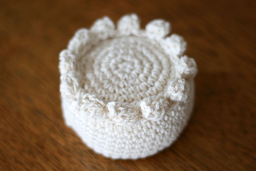 かぎ針編み ケーキの土台