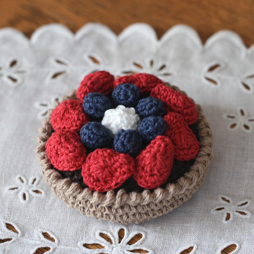 かぎ針編み クロッシェ・パティシエのベリータルト