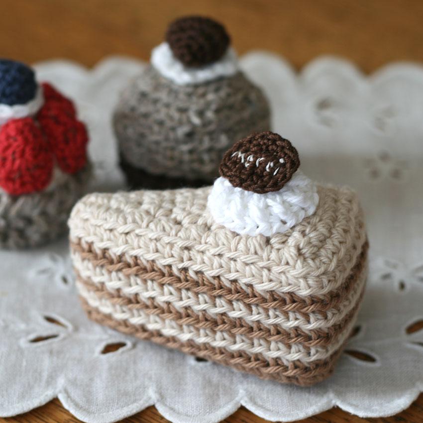 かぎ針編み クロッシェ・パティシエのミルクレープ