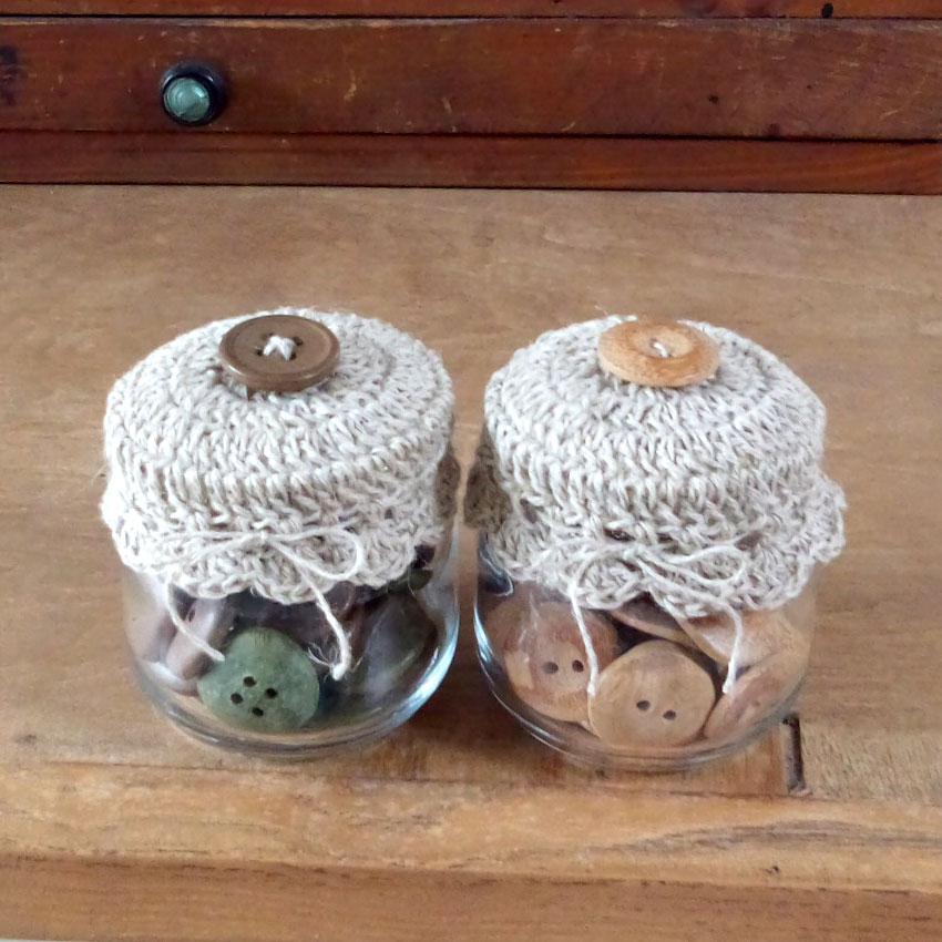 かぎ針編み おめかし小瓶のふた
