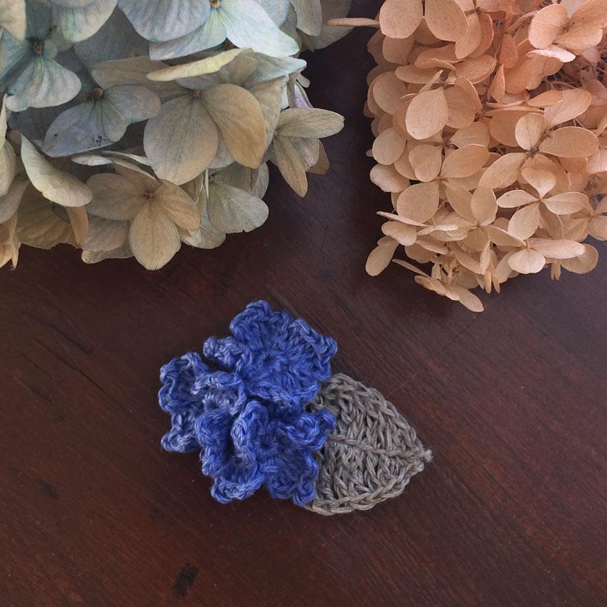 かぎ針編み 紫陽花モチーフ
