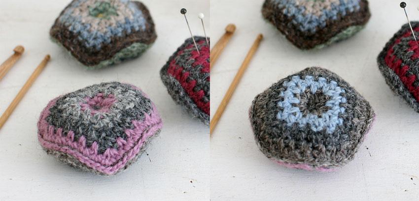かぎ針編み ビスコーニュ 裏表
