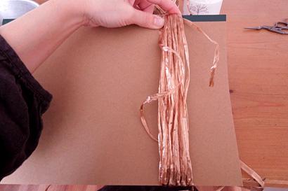 ⑤糸を20回巻きます