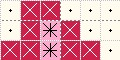 かぎ針編み イチゴの編み込み図