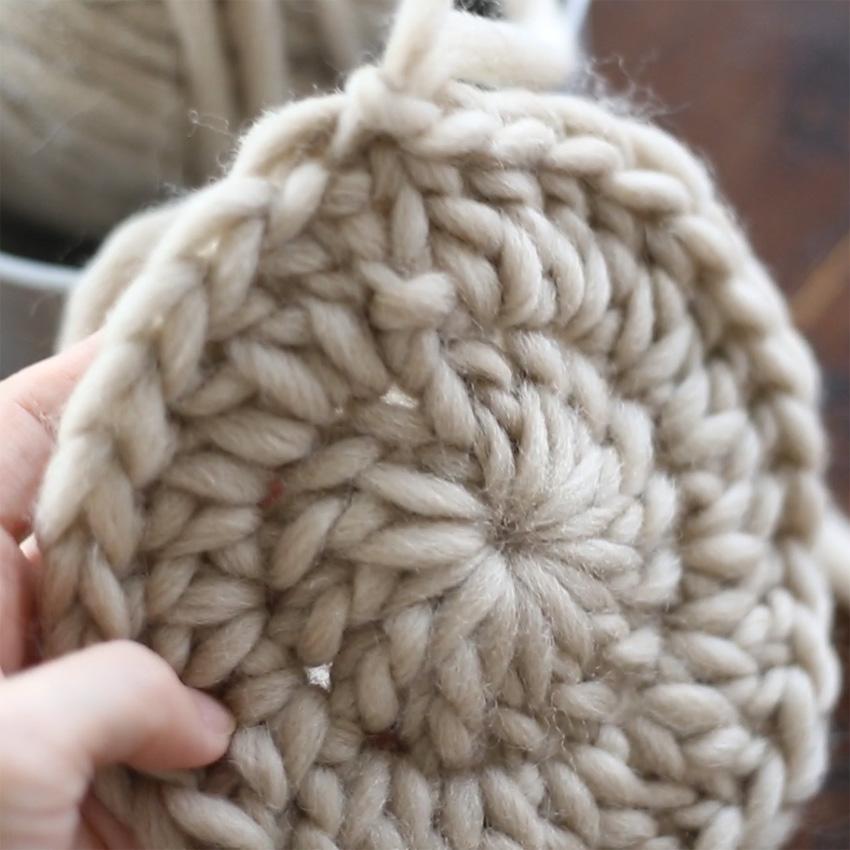 かぎ針編み 「長編みのわ編み」の編み方