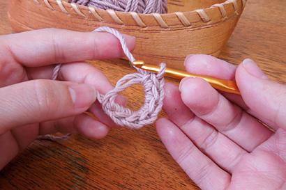 かぎ針編み わ編み [12] 6目編めました