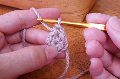 かぎ針編み わ編み [29] こま編みが編めました