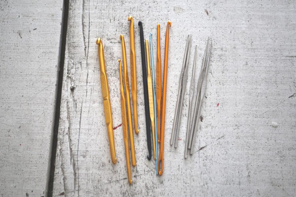 かぎ針編み 金属製のかぎ針