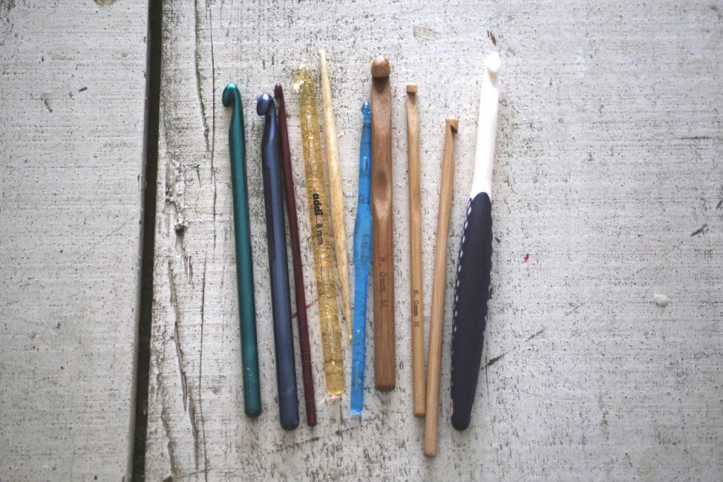 かぎ針編み 樹脂製や木製のかぎ針