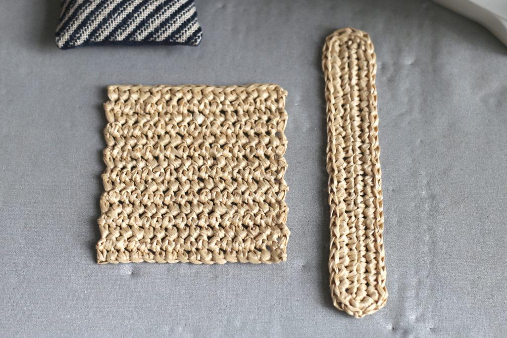 かぎ針編み 編み地がきれいに整いました