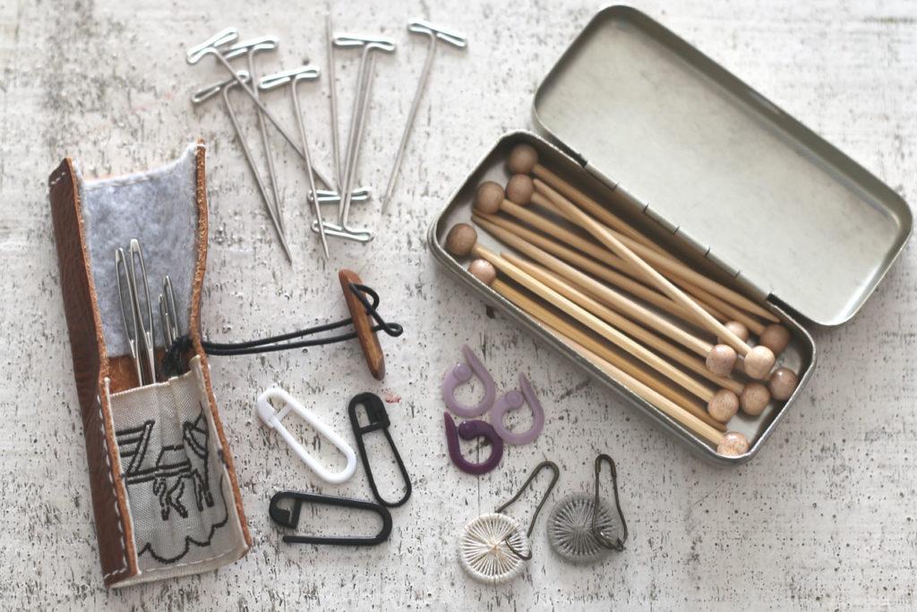 かぎ針編み とじ針、ニットピン、竹待ち針、Tピン