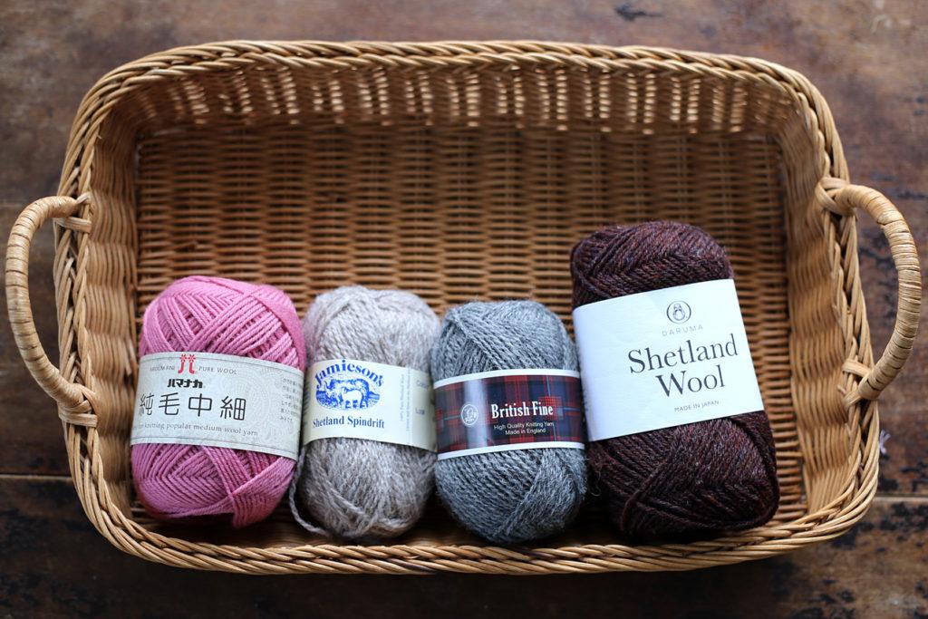 かぎ針編み この4つの毛糸で比較します