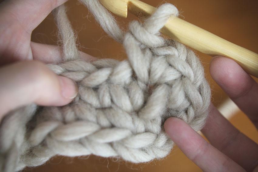 かぎ針編み くさり1 + こま編み1 も編めました
