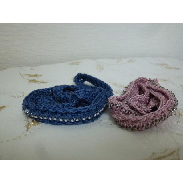 美桜さんの「ビーズ編みカチューム」