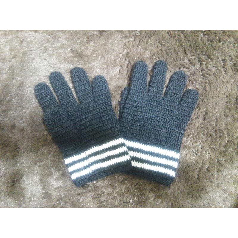 みかんさんの「長編みの手袋」