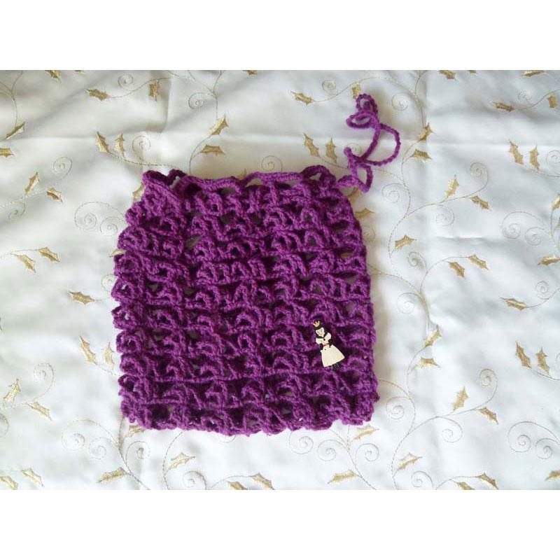 美桜さんの「旅の小分け袋/グリーン」かぎ針編み 作品
