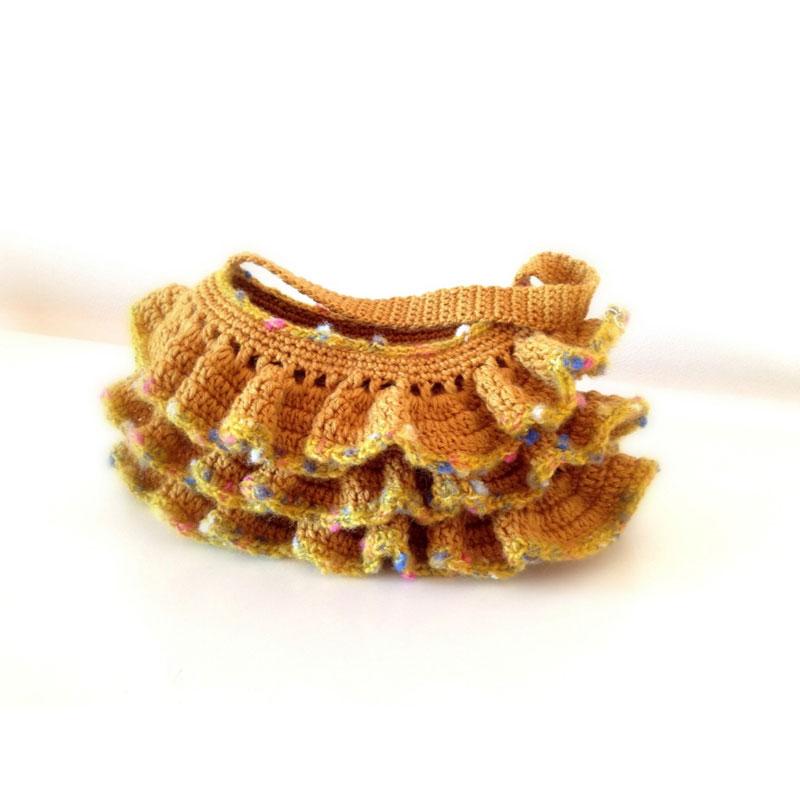 koalaさんの「フリルのミニ・ポーチ」かぎ針編み 作品