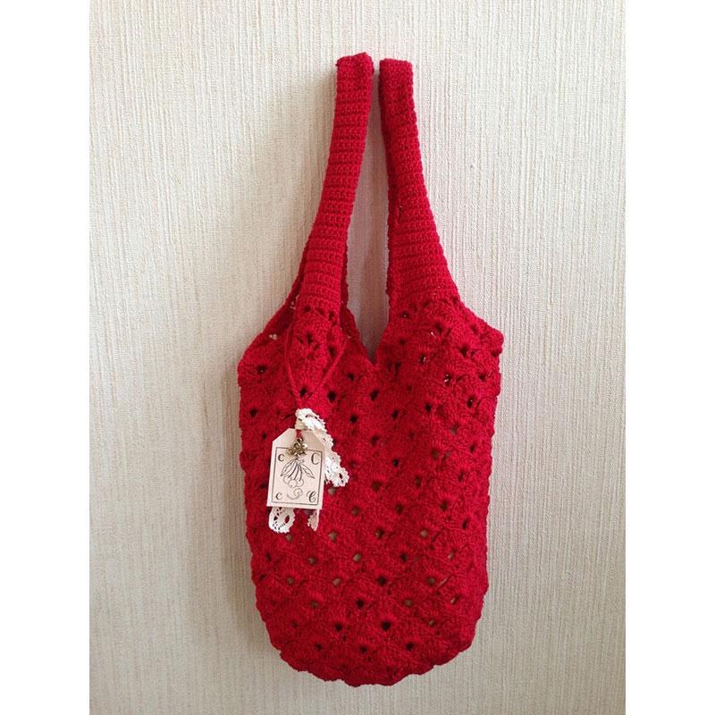 美桜さんの「たっぷり丸底バッグ」かぎ針編み 作品