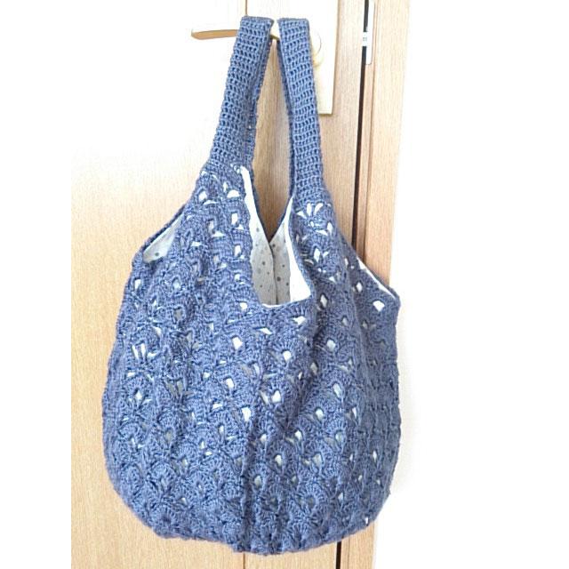 rinnkoさんの「たっぷり丸底バッグ」かぎ針編み 作品