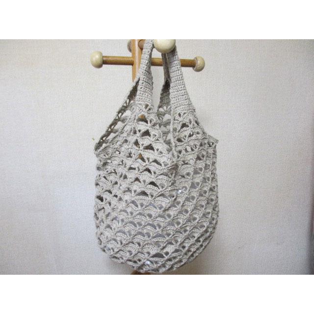 プリティ 60さんの「たっぷり丸底バッグ」かぎ針編み 作品