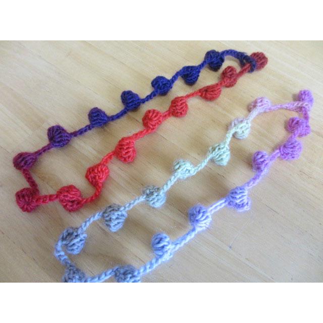 プリティ 60さんの「コロンコロンネックレス」かぎ針編み 作品