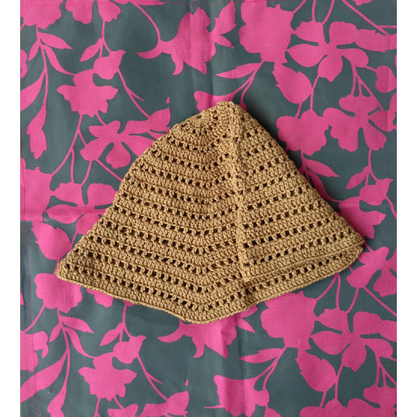 美桜さんの「透かしボーダーハット」かぎ針編み 作品