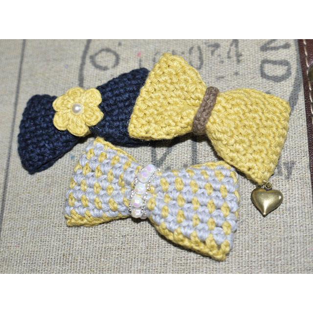 編み物屋さん[ゆとまゆ]さんの「おとなリボン・3タイプ」