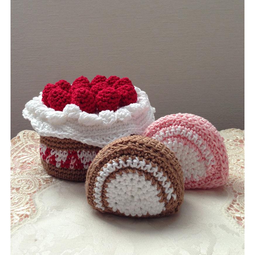 かぎ針編み 美桜さんの「クロッシェ・パティシエのケーキ小箱」