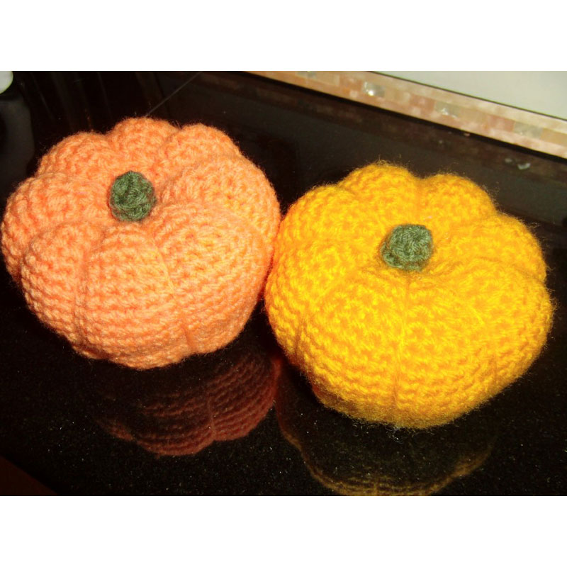 かぎ針編み さりーさんの「ハロウィーンのかぼちゃ」