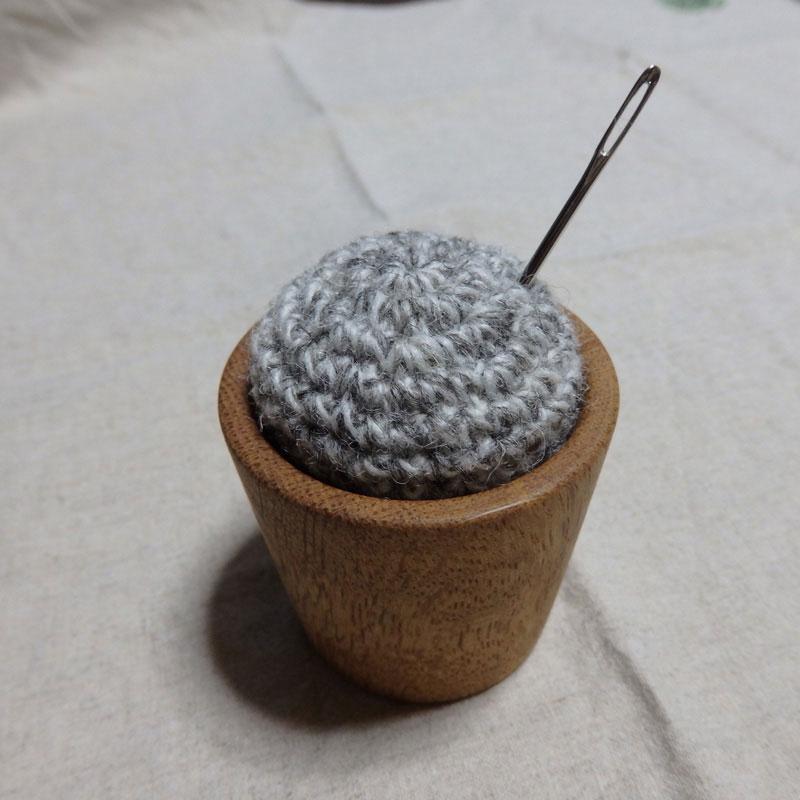 takechanさんの「ならのとじ針用ピンクッション」かぎ針編み 作品