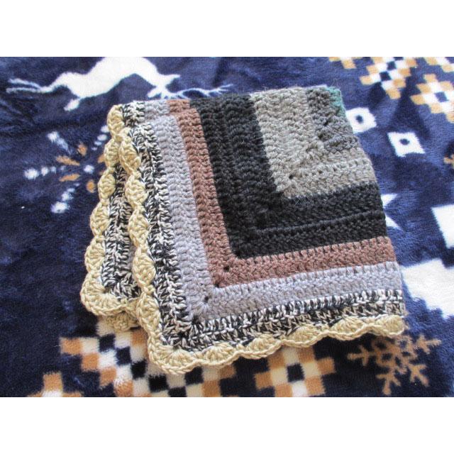 プリティ 60さんの「歪まず大きく編むブランケット」かぎ針編み 作品