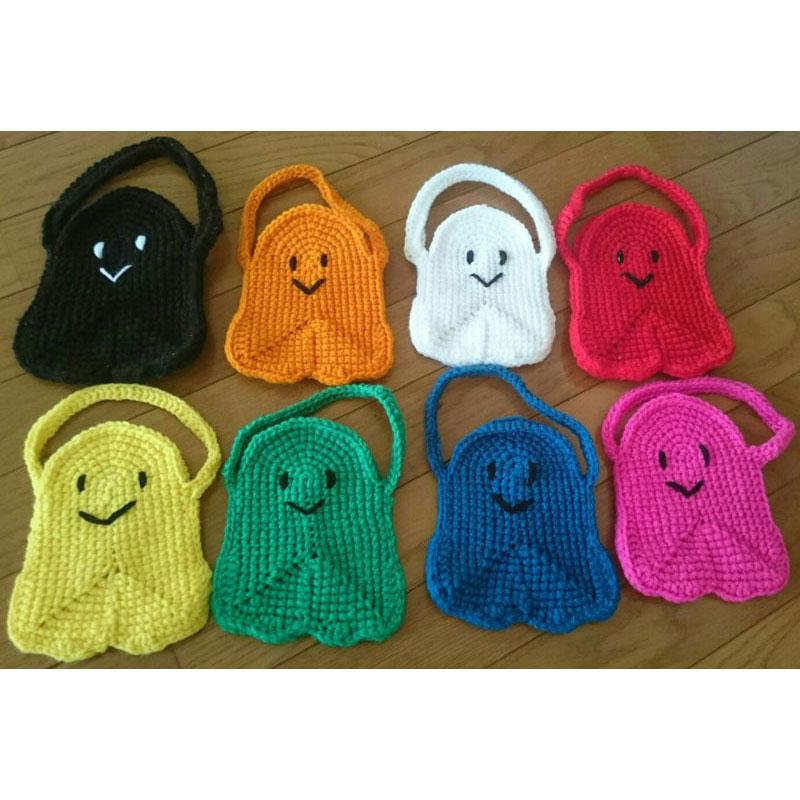 mii@さんの「おばけバッグ」かぎ針編み 作品