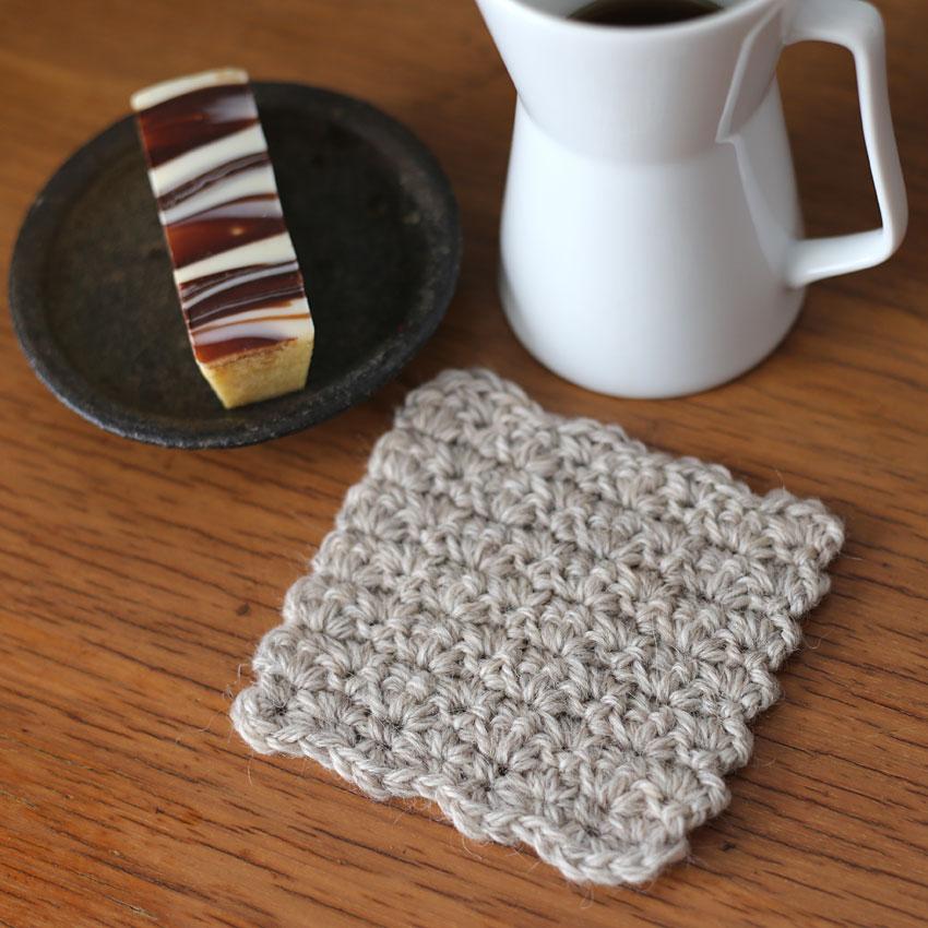 かぎ針編み 往復編みのコースター